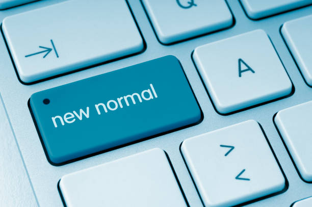 New Normal button stock photo