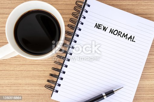 istock New normal text on note pad 1250516864