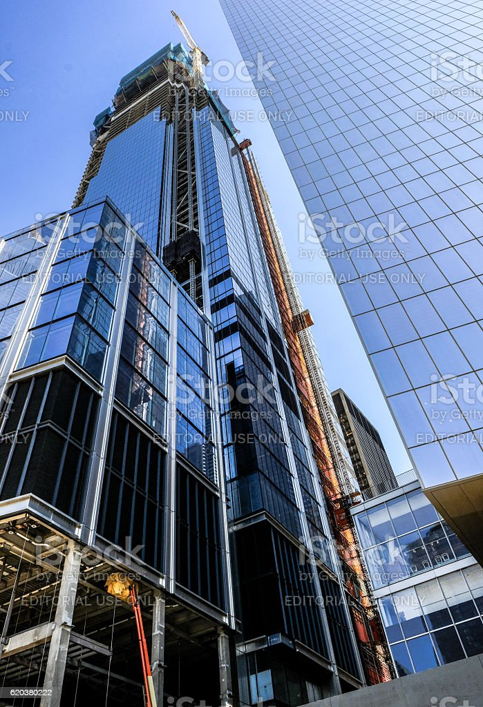 New Office Block Construction In New York City foto de stock royalty-free