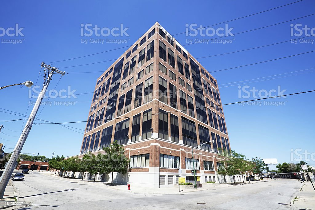 New Office Building in Jefferson Park, Chicago royalty-free stock photo