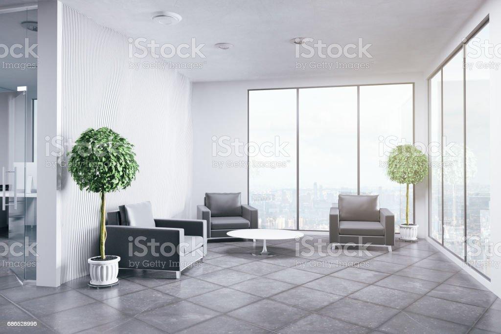 Nieuw kantoor interieur royalty free stockfoto