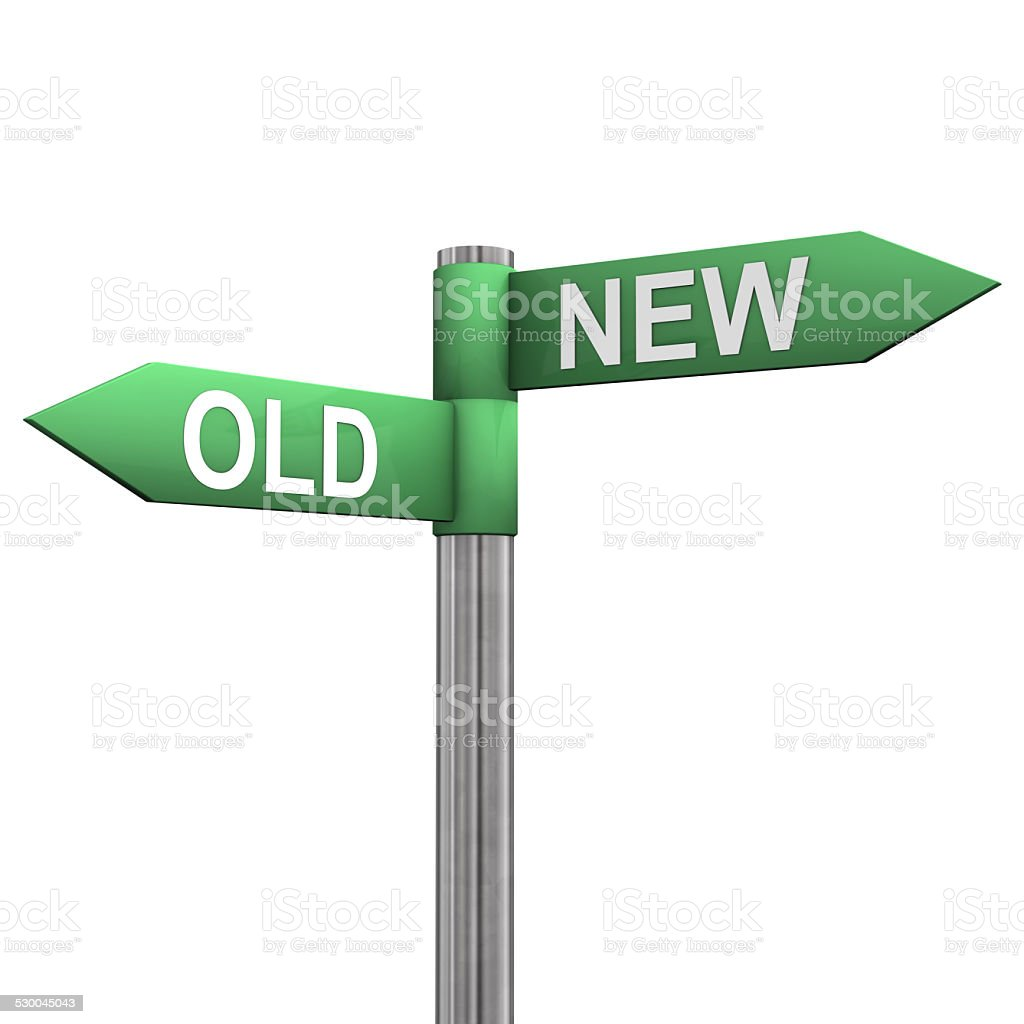 New Old Directions stock photo