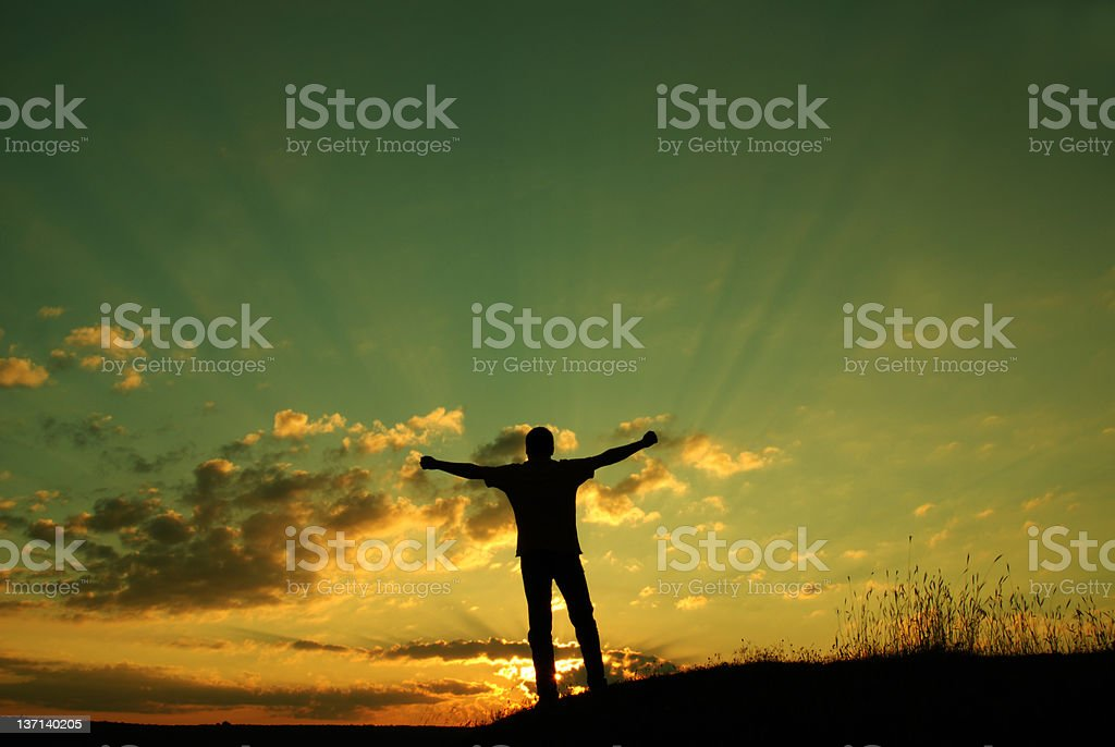 New opportunities. Freedom concept stock photo