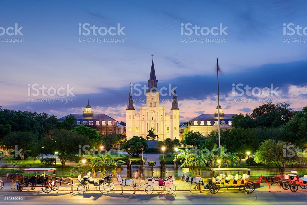 New Orleans at Jackson Square stock photo