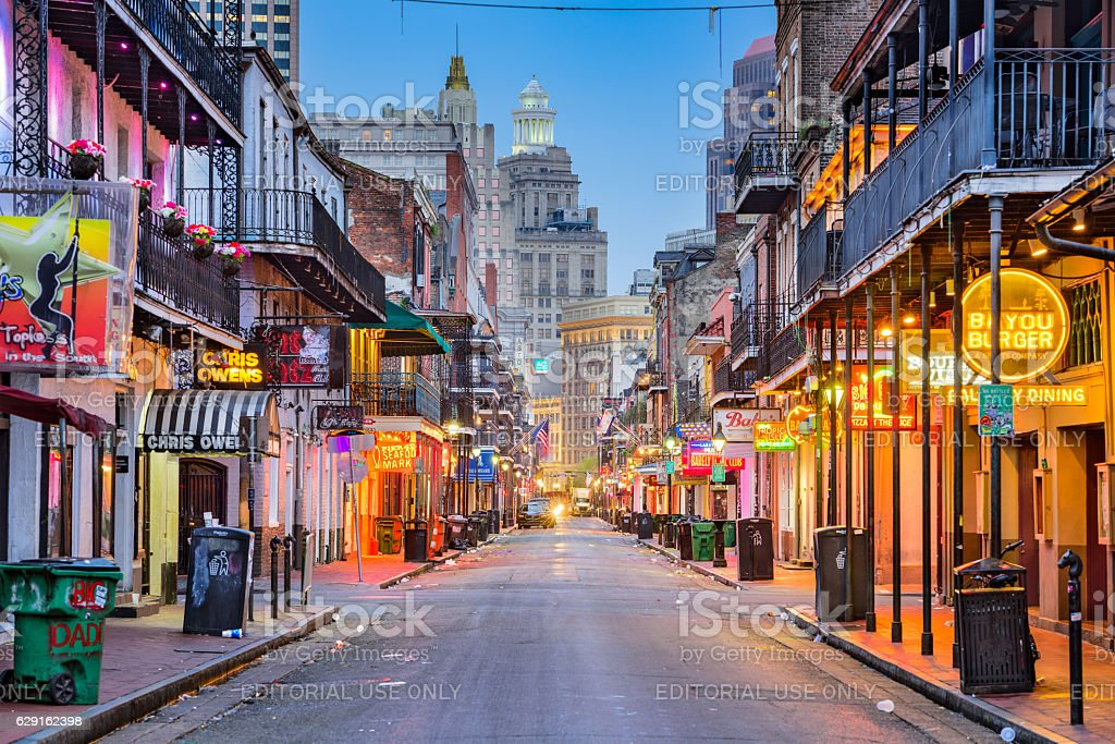 New Orleans Bourbon Street royalty-free stock photo
