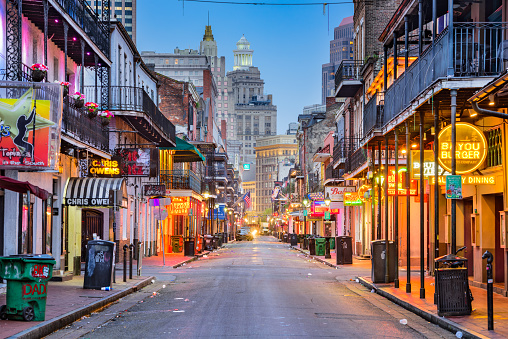 New Orleans Bourbon Street Stock Photo - Download Image Now
