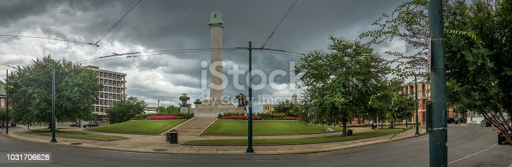 Lee Circle, New Orleans.  Popular location to watch the Mardi Gras parades.  Central Business District.