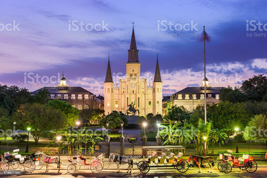 New Orleans City Square stock photo