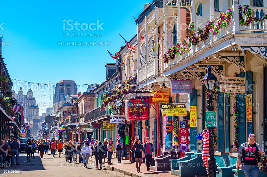 New Orleans Colorful French Quarter stock photo