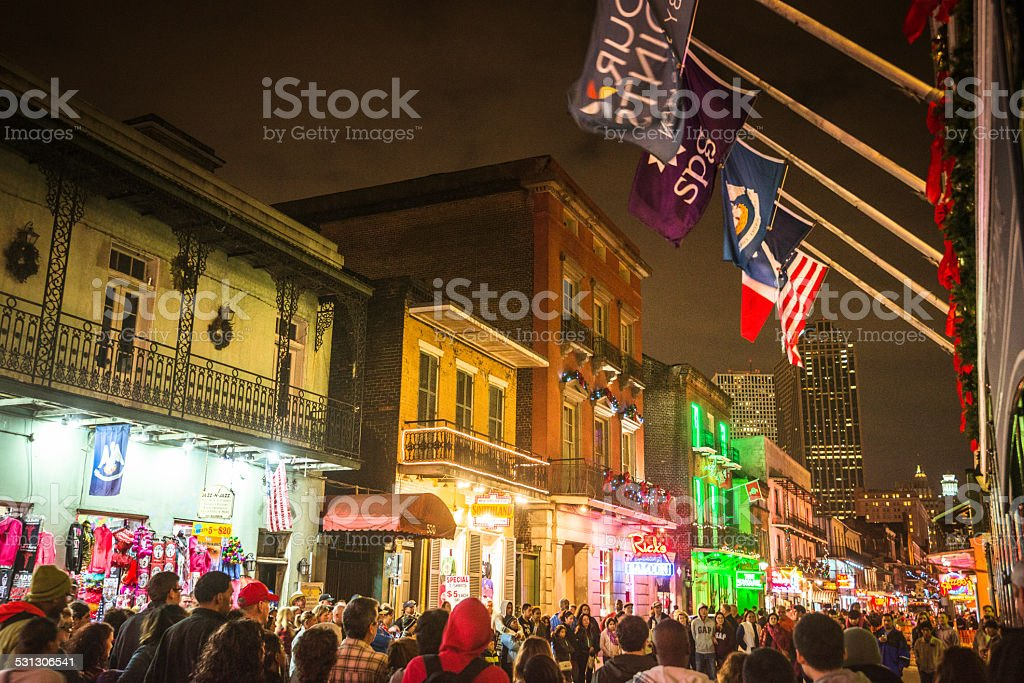 new orleans french quartier for christmas stock photo