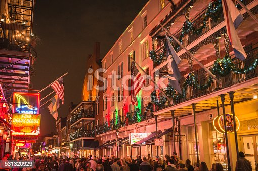 889246424 istock photo new orleans french quartier for christmas 531320929