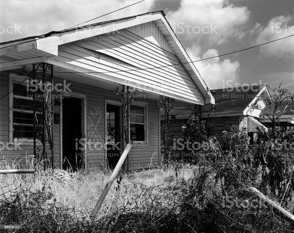 New Orleans Home Damaged by Hurricane Katrina royalty-free stock photo