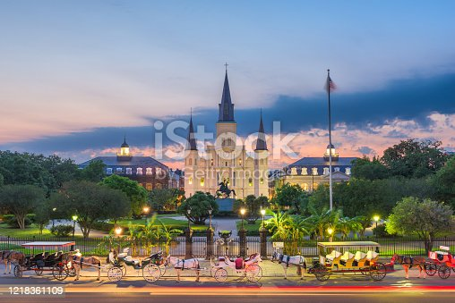 564604962 istock photo New Orleans, Louisiana at Jackson Square 1218361109