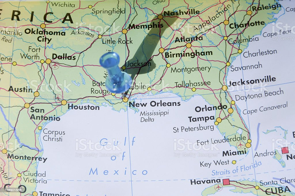 New Orleans Louisiana On A Map Stock Photo & More Pictures of ...