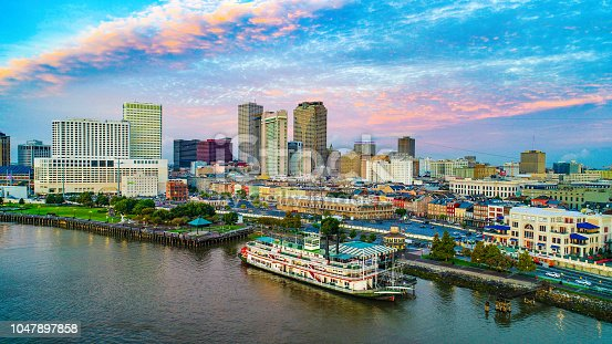 New Orleans, Louisiana, USA Downtown Skyline Aerial