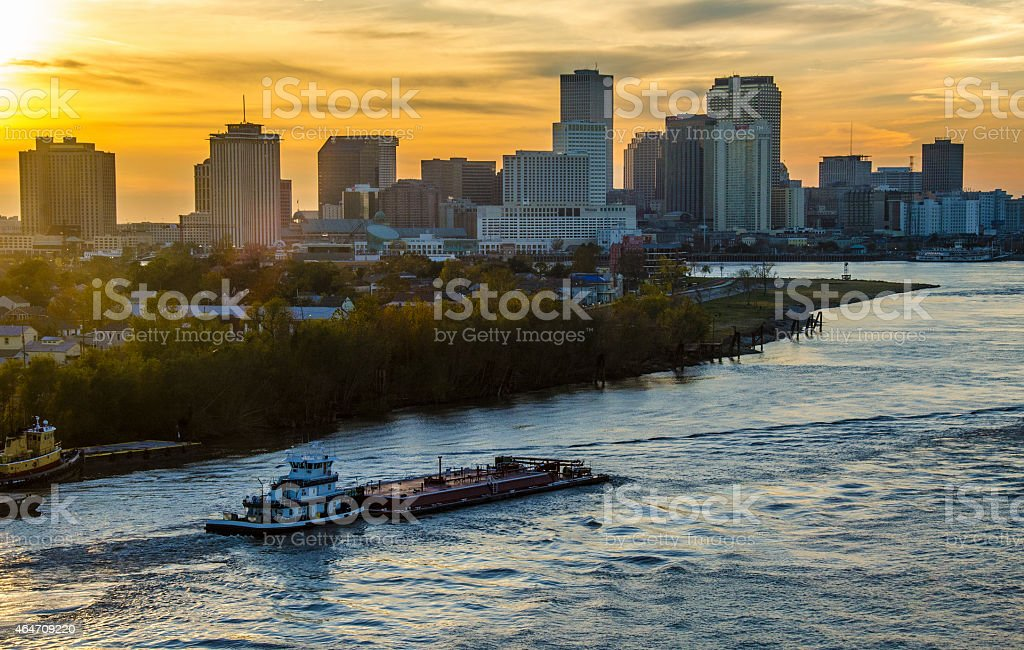 New Orleans Mississippi River stock photo