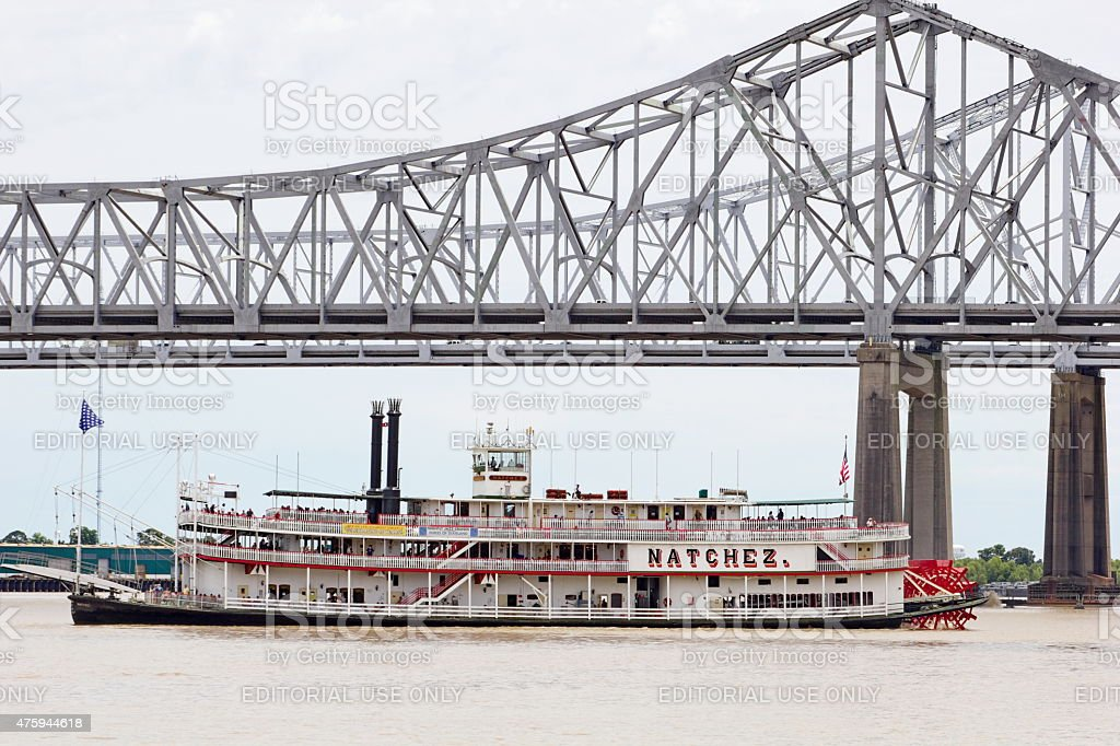 New Orleans Paddle Wheeler Tourist River Boat stock photo