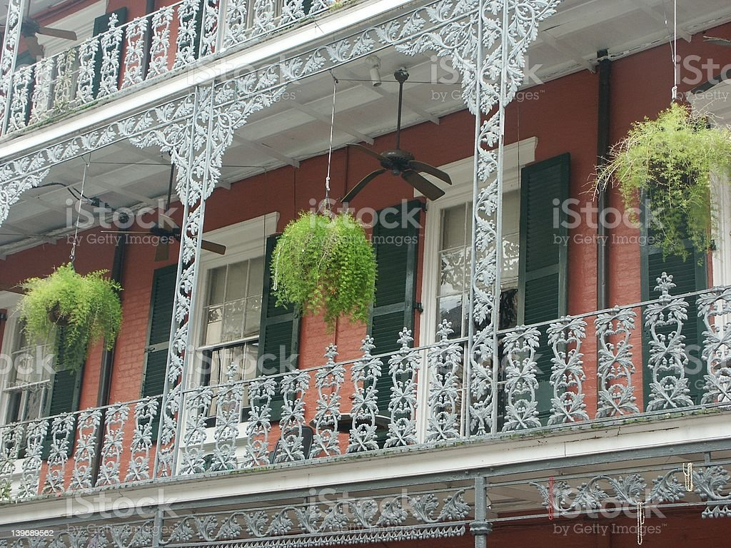 New Orleans Porch stock photo