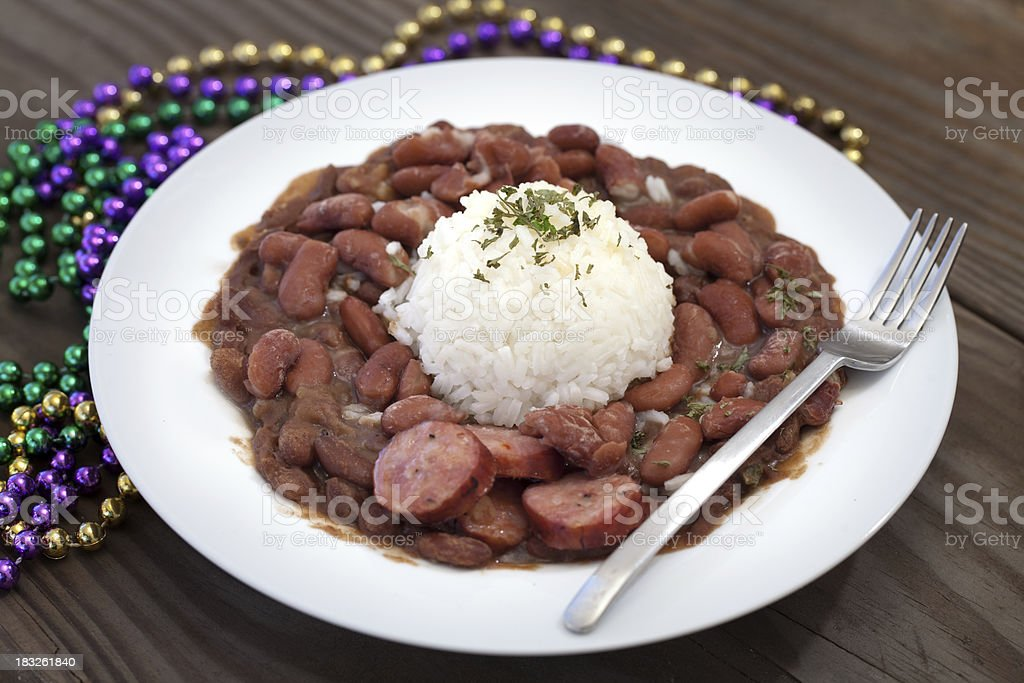 New Orleans Red Beans and Rice royalty-free stock photo