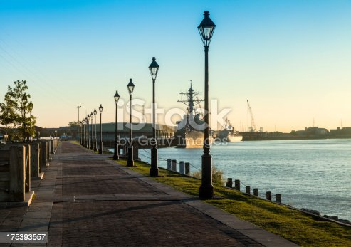 New Orleans skyline along the Mississippi River Walk in the morning.I invite you to view some of my other New Orleans images: