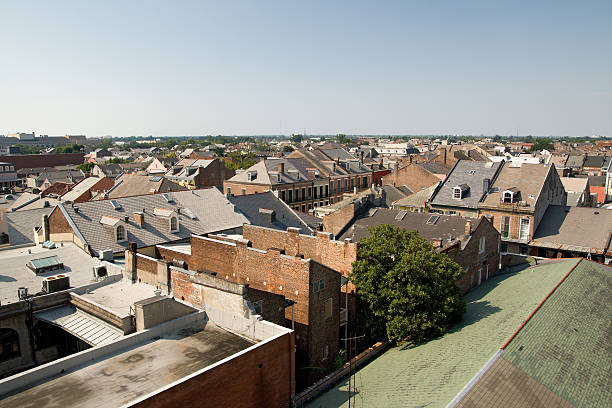 New Orleans Rooftops stock photo