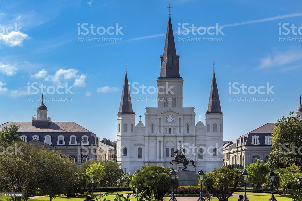 New Orleans' Saint Louis Cathedral stock photo