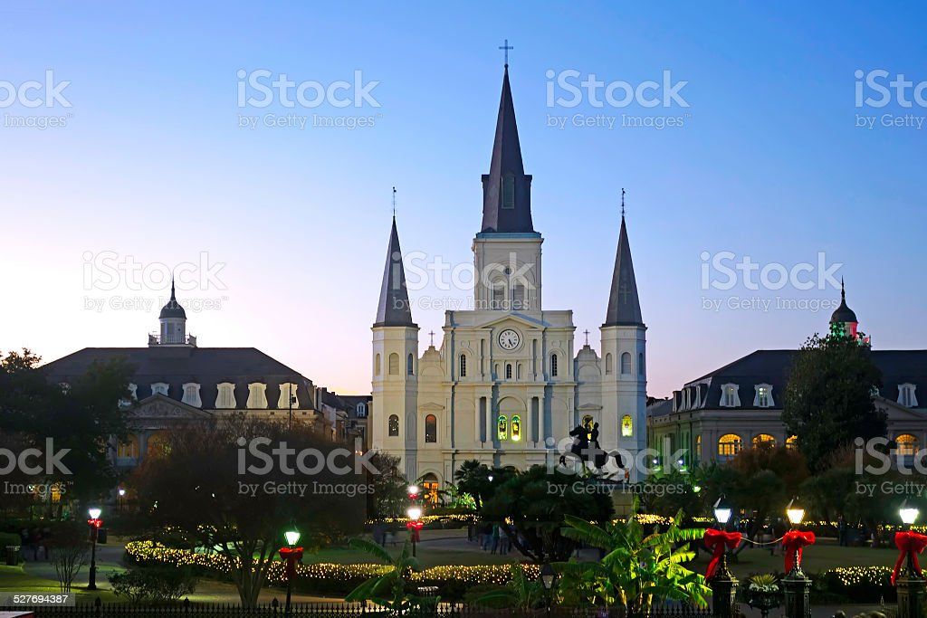 New Orleans Saint Louis Cathedral stock photo