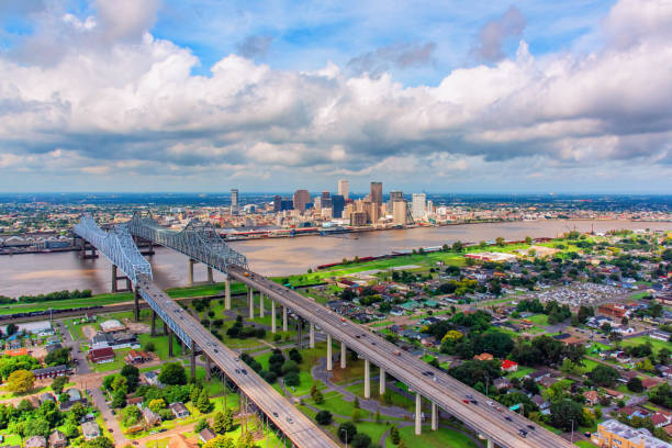 New Orleans Skyline From Above stock photo