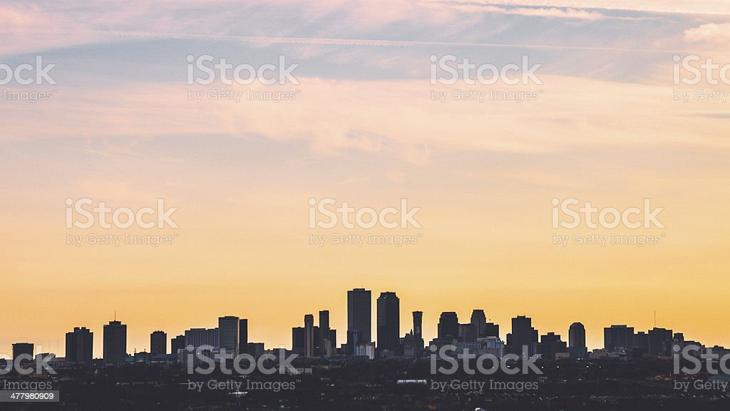 New Orleans skyline. royalty-free stock photo