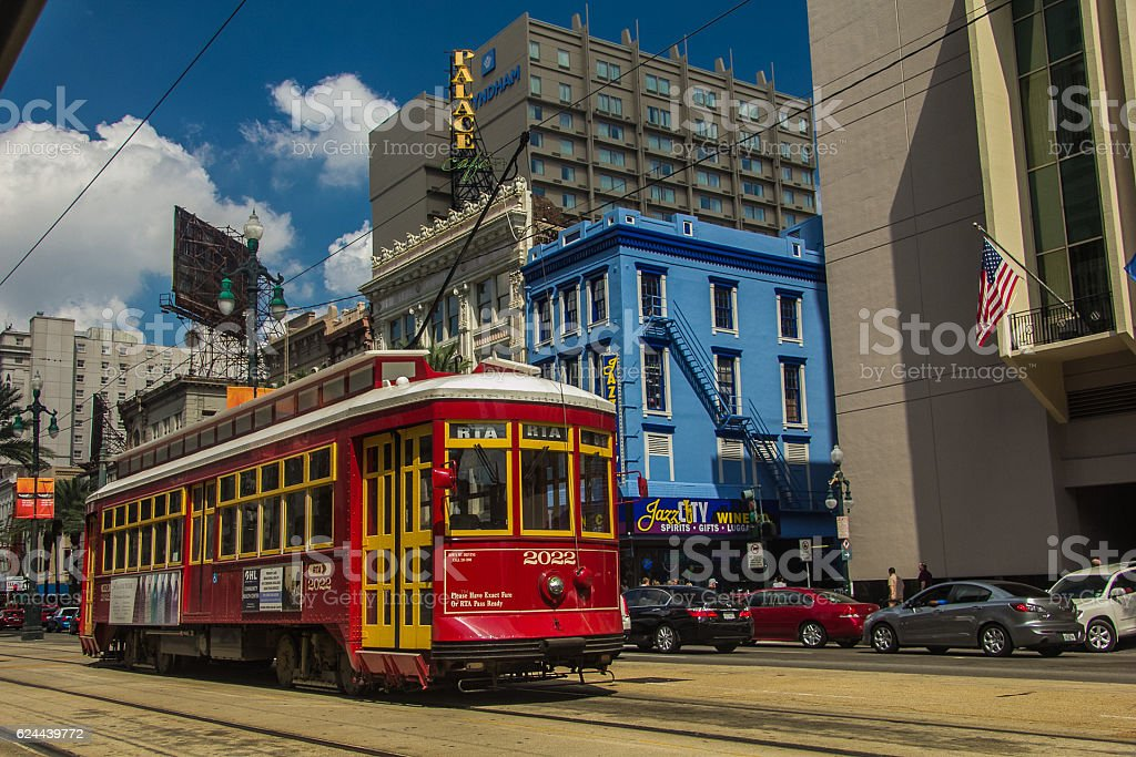 New Orleans Street Car stock photo