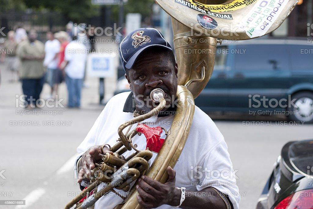 New Orleans street musician stock photo
