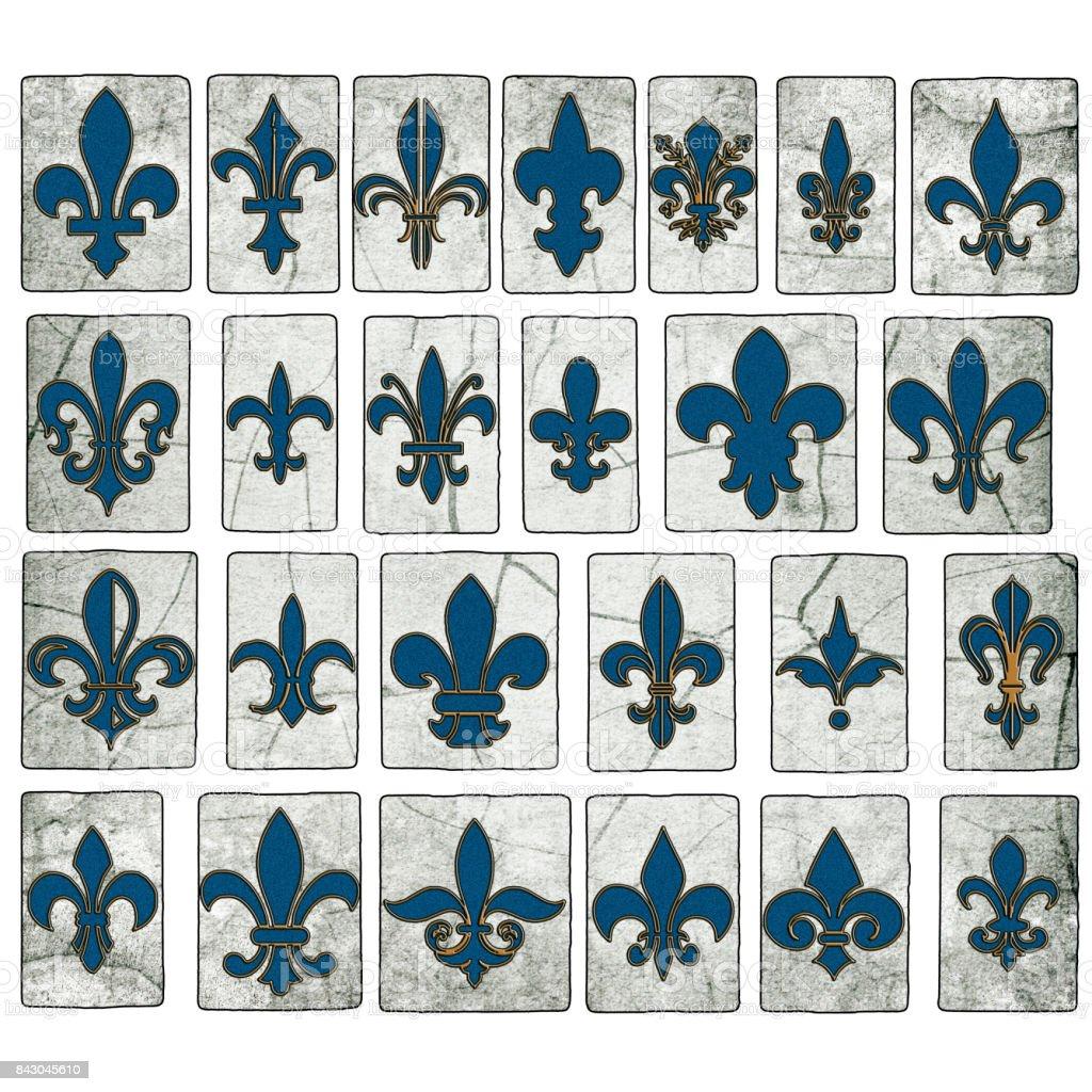 New Orleans Street Tiles Fleur de lis Collection stock photo