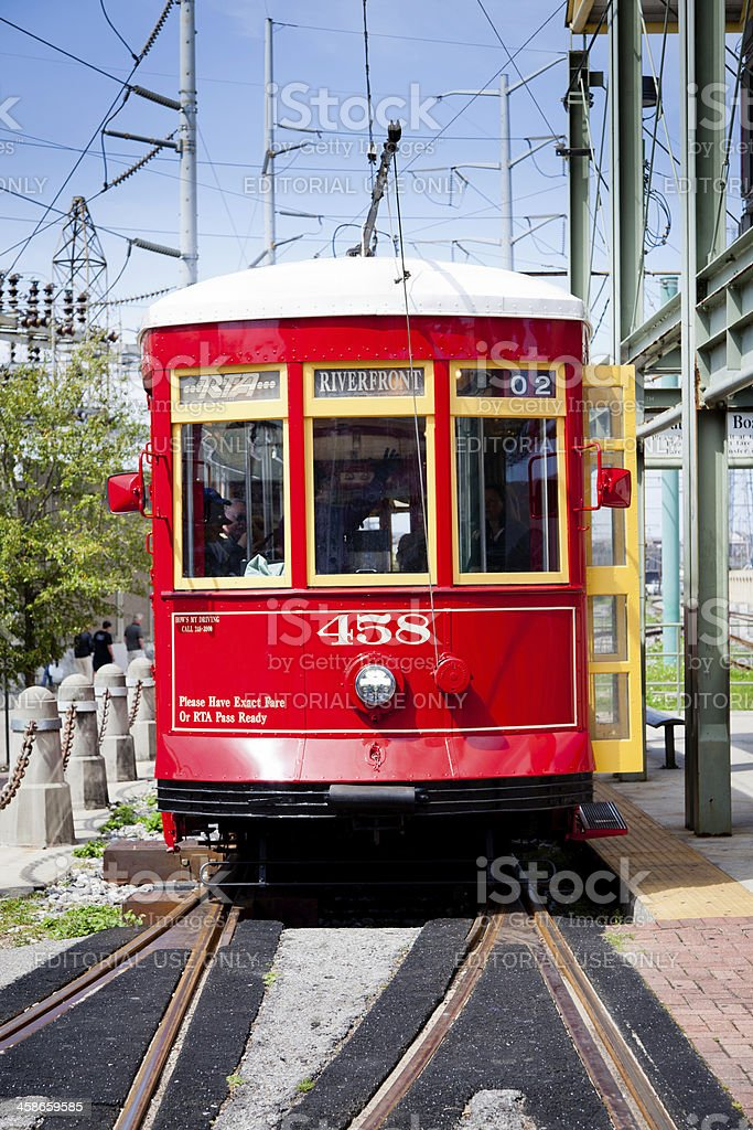 New Orleans streetcar royalty-free stock photo