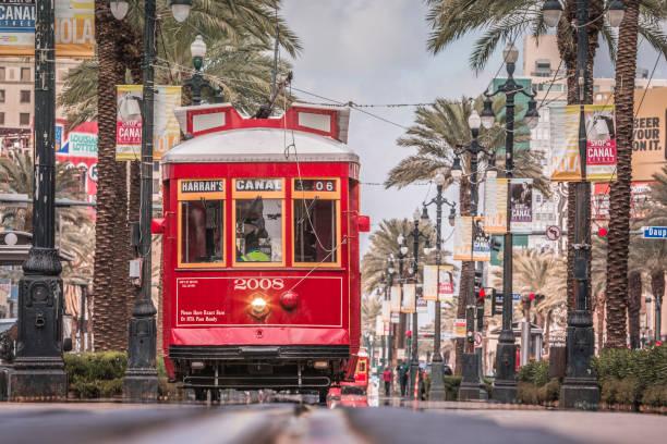 New Orleans Streetcar, USA stock photo