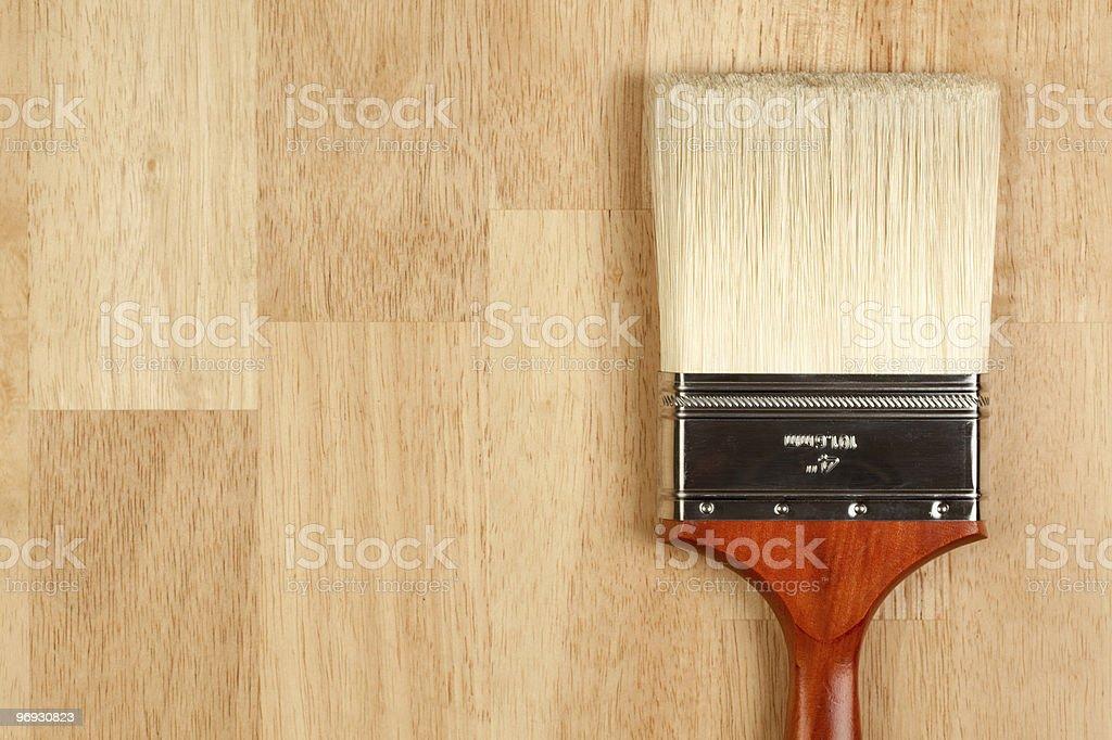 New Paint Brush on Wood royalty-free stock photo