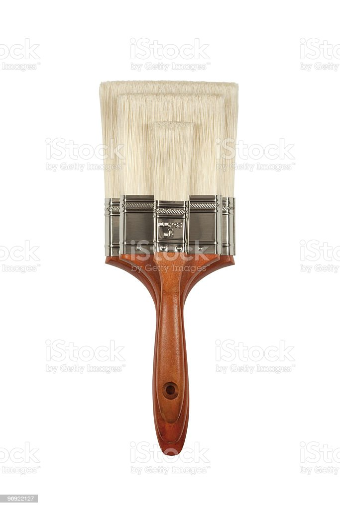 New Paint Brushes on White with Clipping Path royalty-free stock photo
