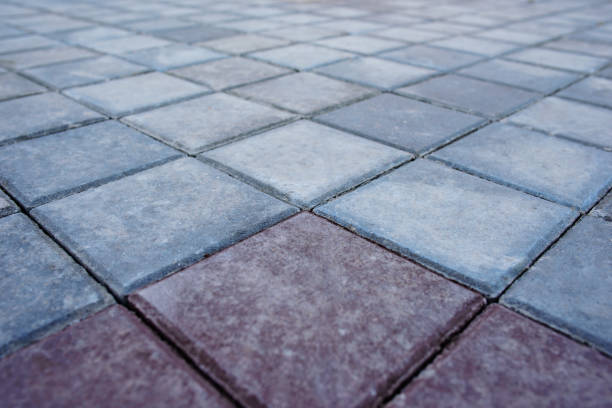 new paving top view stock photo