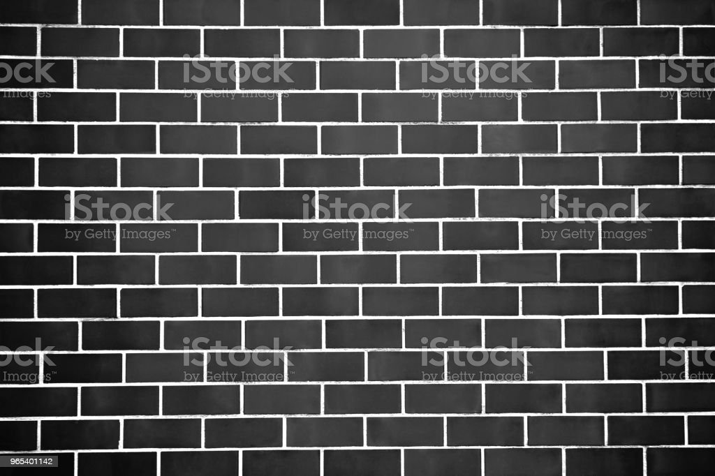 New perfectly black brick wall background. Best clean grey brick wall. Close up. Front view. zbiór zdjęć royalty-free