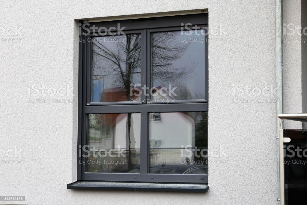 New plastic window stock photo