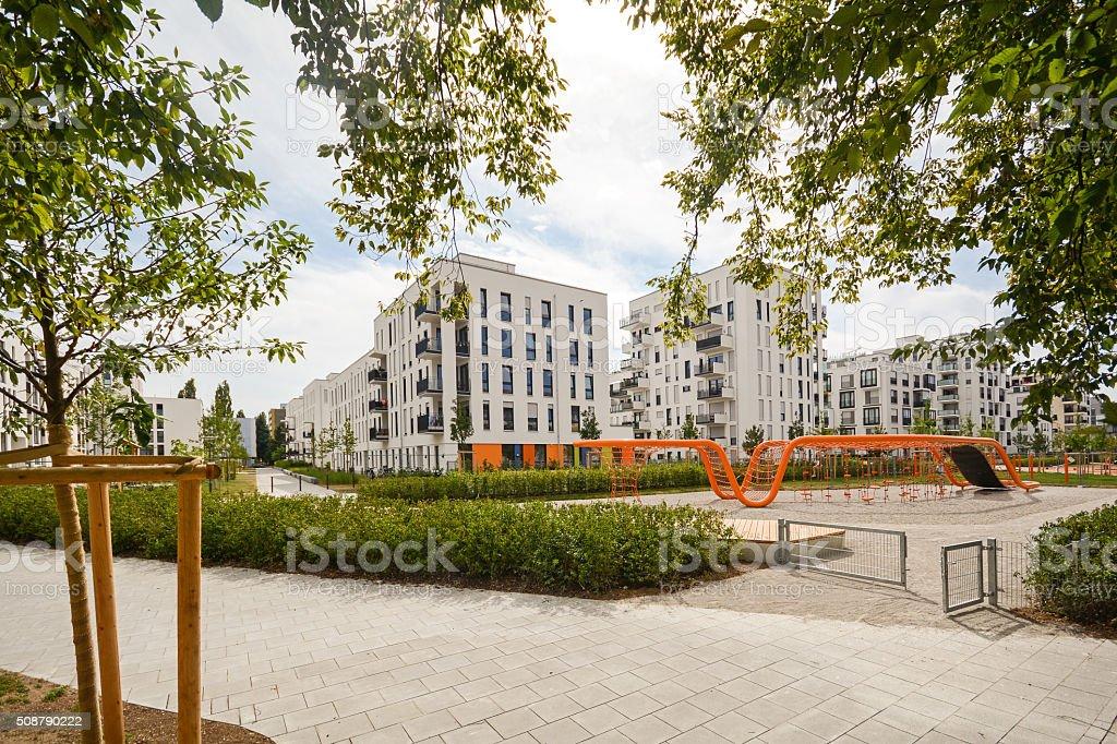 Bauwerk Hamburg neue spielplatz und moderne wohnhäuser stock fotografie und mehr