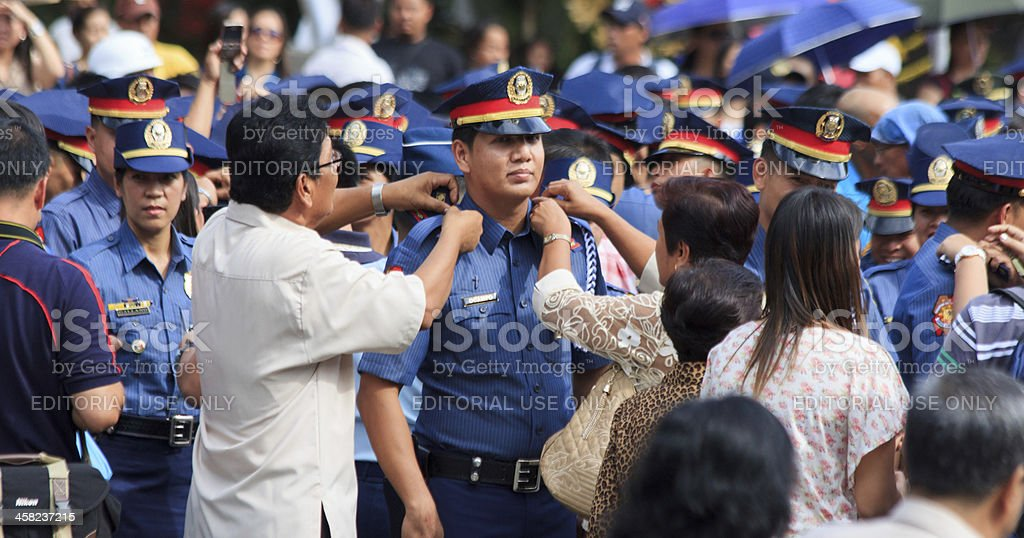 New police officer stock photo