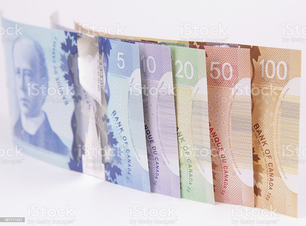 New Polymer Canadian Currency royalty-free stock photo