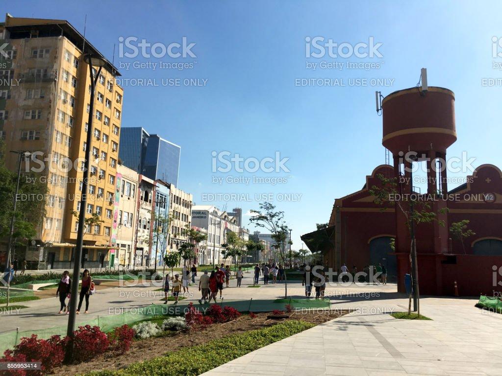 New Porto Maravilha (port). Rio de Janeiro, Brazil. stock photo