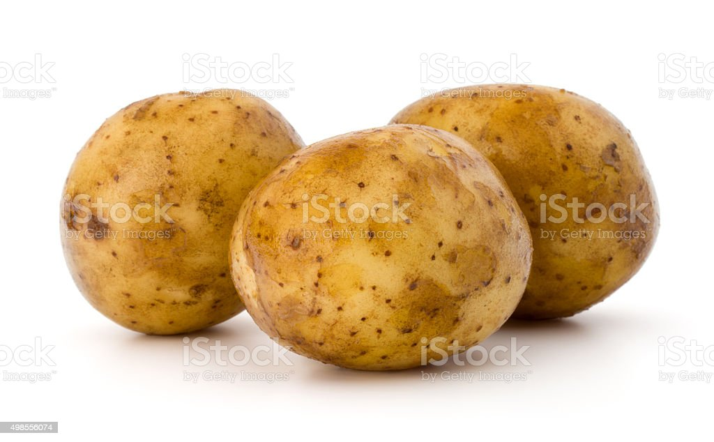 new potato tuber isolated on white background cutout stock photo