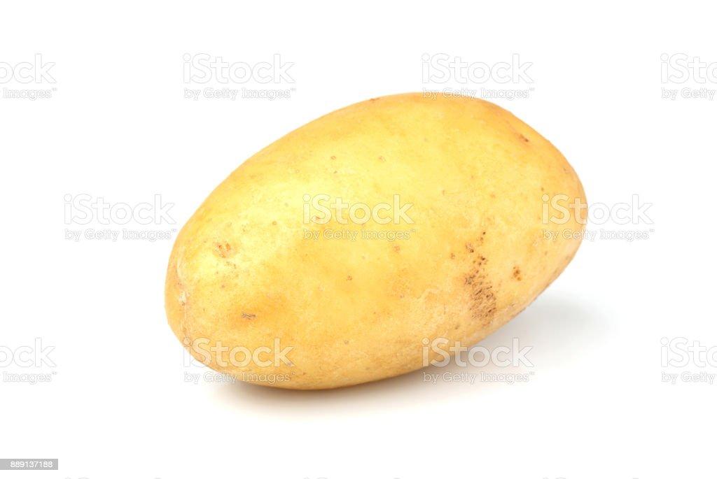 New potatoes isolated closeup stock photo