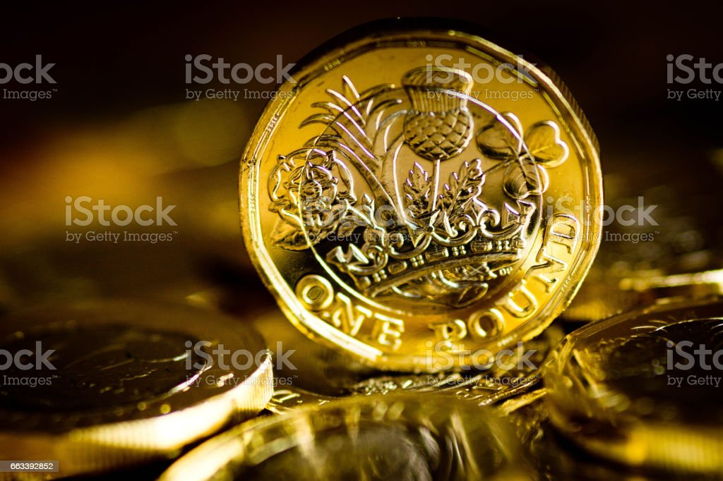 New pound coin released 2017 stock photo