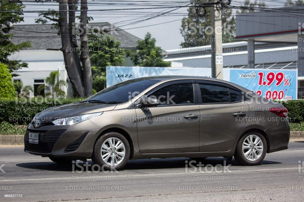New Private Sedan car toyota Yaris ATIV Eco Car zbiór zdjęć royalty-free