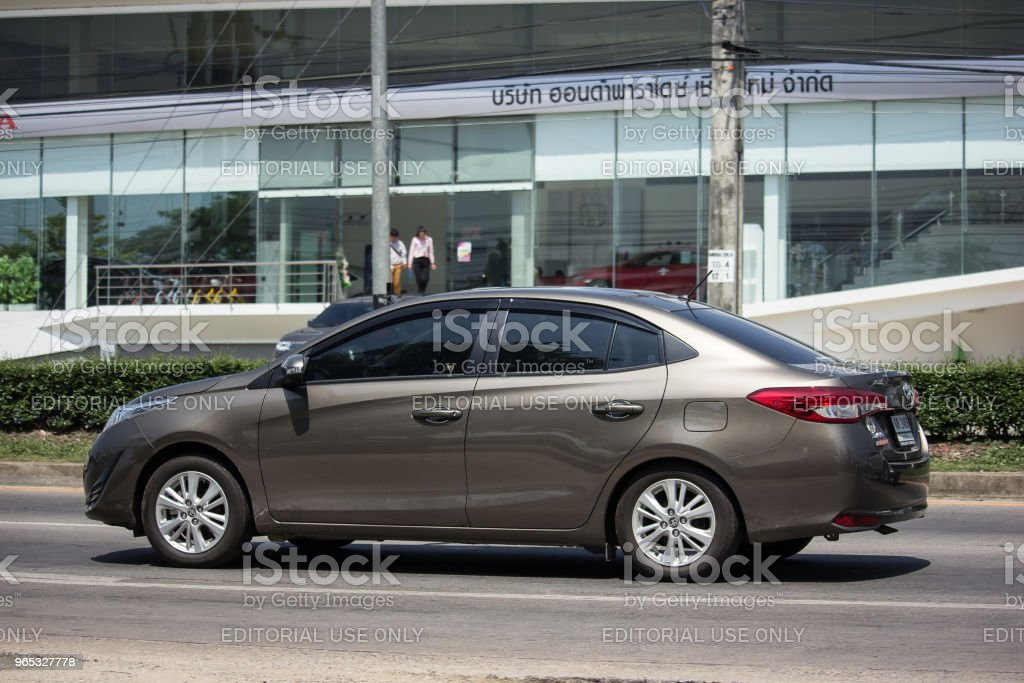 New Private Sedan car toyota Yaris ATIV Eco Car zbiór zdjęć royalty-free