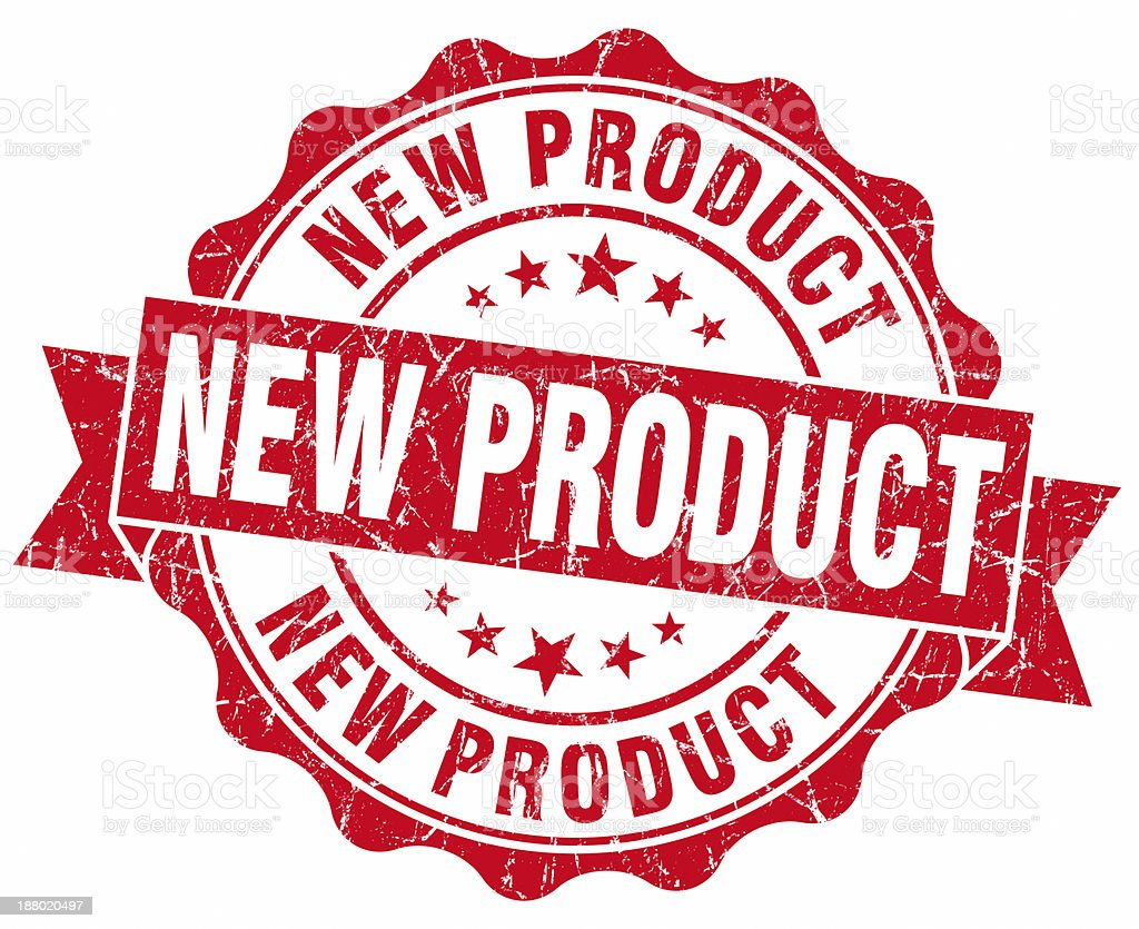 new product round red seal stock photo
