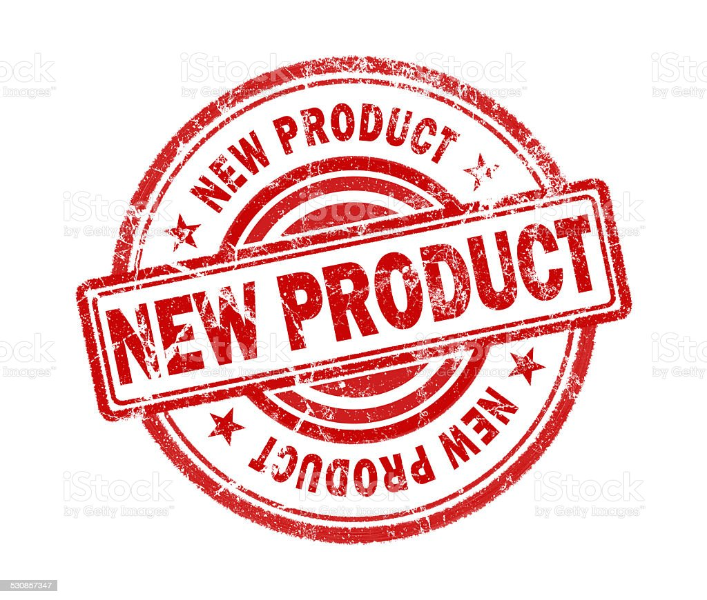 new product stamp on white background stock photo